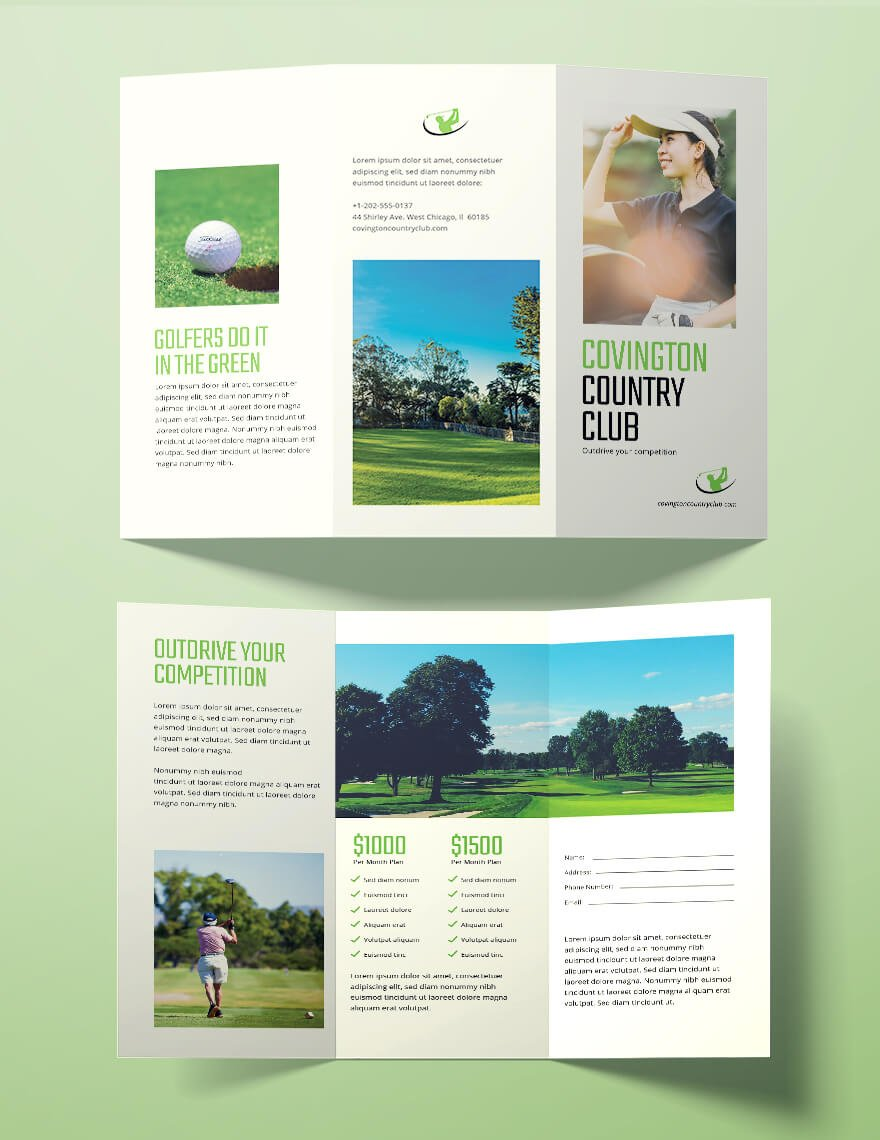 Golf-Brochure-Template