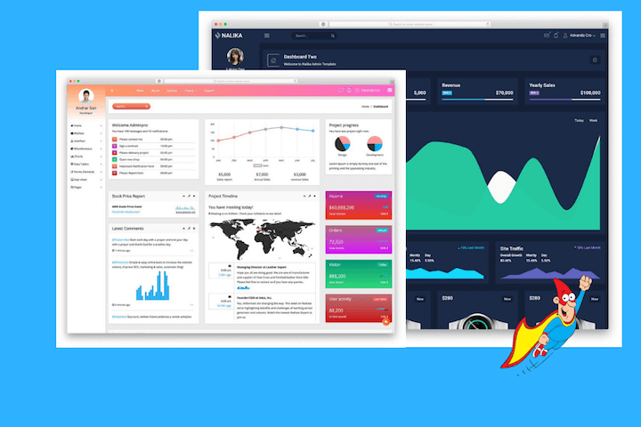 30+ Best Free Bootstrap Admin Templates 2019 - TemplateHero