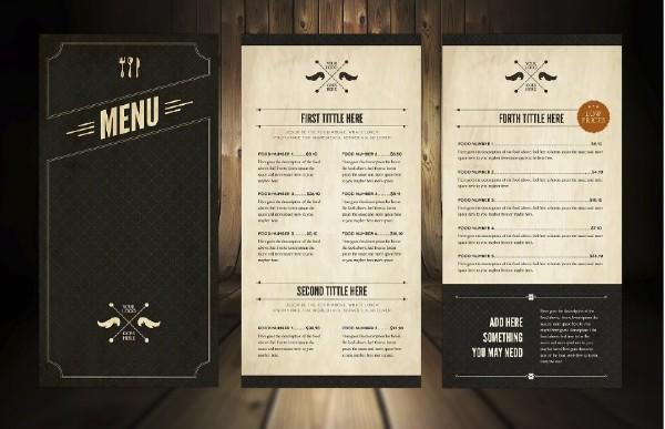 Elegant Food Menu 5