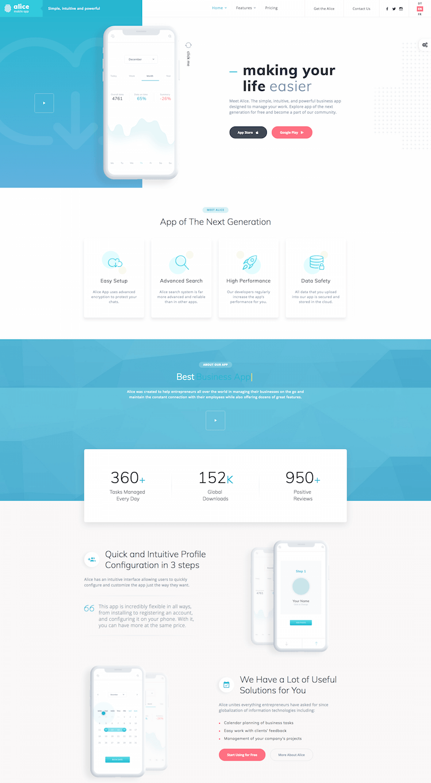 Alice Multipurpose App HTML Template