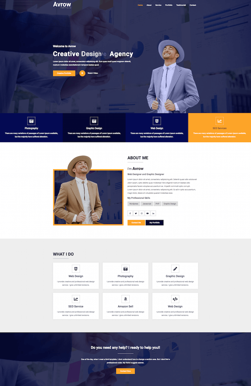 Avrow HTML5 Template
