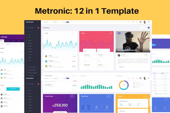 Metronic Template admin