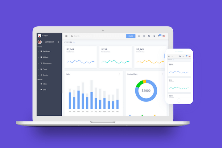 Vuely Admin Template